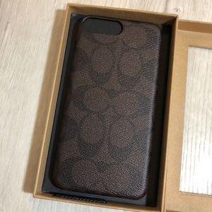 Coach Accessories - Coach  Mahogany Signature C iPhone 8 plus case